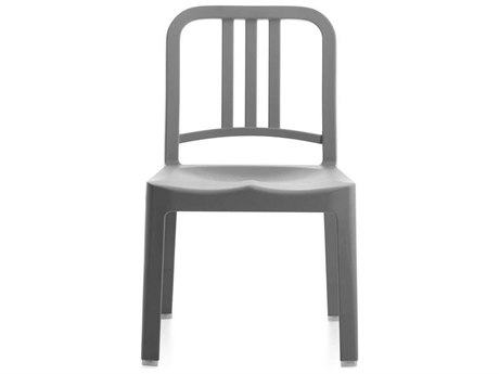 Emeco Outdoor Navy Recycled Plastic Flint Mini Dining Side Chair