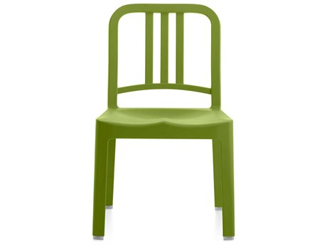 Emeco Outdoor Navy Recycled Plastic Grass Mini Dining Side Chair