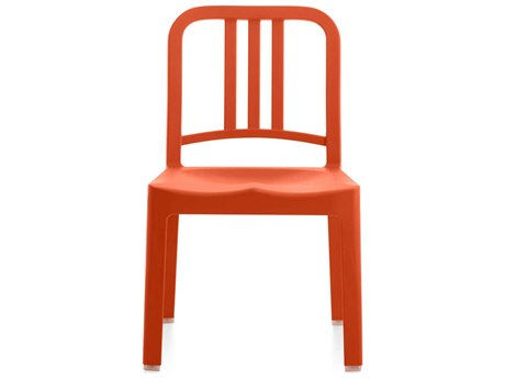 Emeco Outdoor Navy Recycled Plastic Persimmon Mini Dining Side Chair