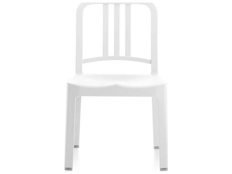 Emeco Outdoor Navy Recycled Plastic Snow Mini Dining Side Chair