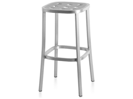 Emeco Outdoor 1 Inch By Jasper Morrison Aluminum 30'' High Barstool PatioLiving