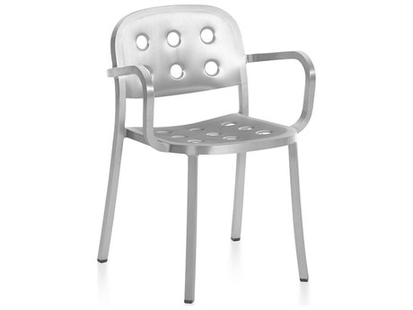 Emeco Outdoor 1 Inch By Jasper Morrison Aluminum Dining Arm Chair PatioLiving