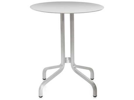 Emeco Outdoor 1 Inch By Jasper Morrison Aluminum 24'' Wide Round  Laminate plywood Top Bistro Table