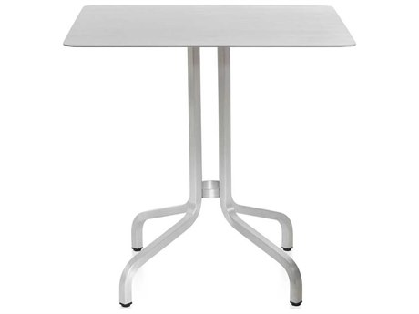 Emeco Outdoor 1 Inch By Jasper Morrison Aluminum 30'' Wide Square  Laminate plywood Top Bistro Table