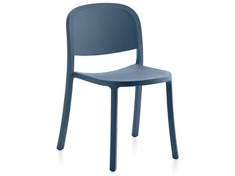 Emeco Outdoor 1 Inch By Jasper Morrison Reclaimed Blue Dining Side Chair
