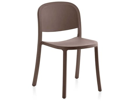 Emeco Outdoor 1 Inch By Jasper Morrison Reclaimed Brown Dining Side Chair