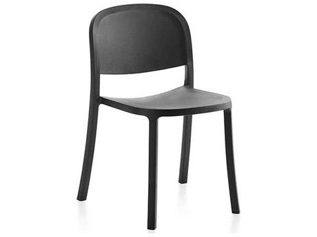 Emeco Outdoor 1 Inch By Jasper Morrison Reclaimed Dark Grey Dining Side Chair