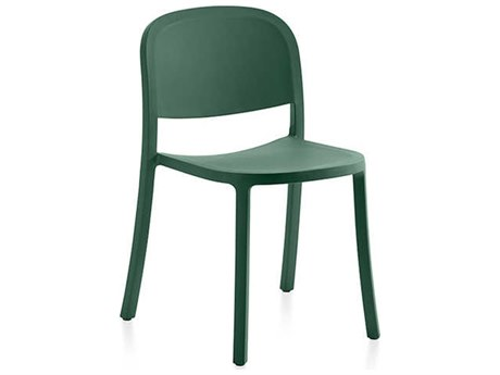 Emeco Outdoor 1 Inch By Jasper Morrison Reclaimed Green Dining Side Chair