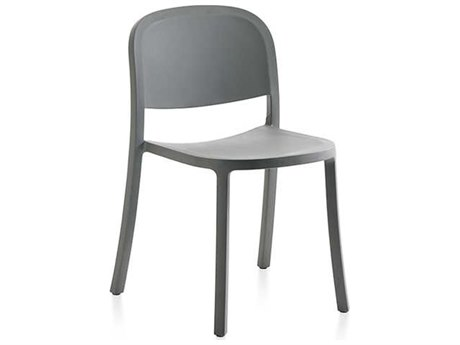 Emeco Outdoor 1 Inch By Jasper Morrison Reclaimed Light Grey Dining Side Chair