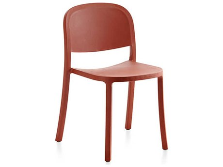 Emeco Outdoor 1 Inch By Jasper Morrison Reclaimed Orange Dining Side Chair