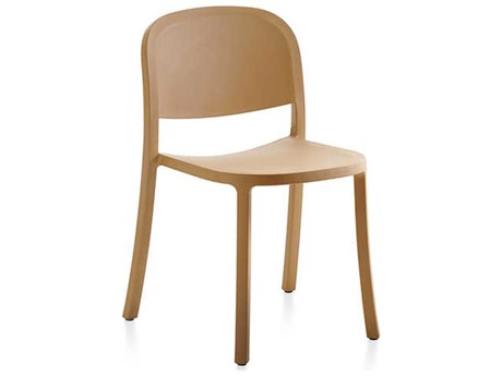 Emeco Outdoor 1 Inch By Jasper Morrison Reclaimed Sand Dining Side Chair