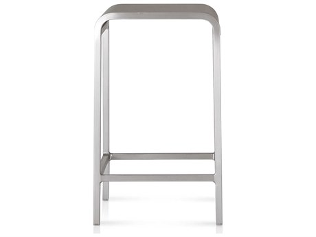 Emeco Outdoor Norman Foster Brushed Aluminum Counter Stool PatioLiving