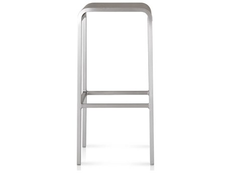 Emeco Outdoor Norman Foster Brushed Aluminum Bar Stool PatioLiving