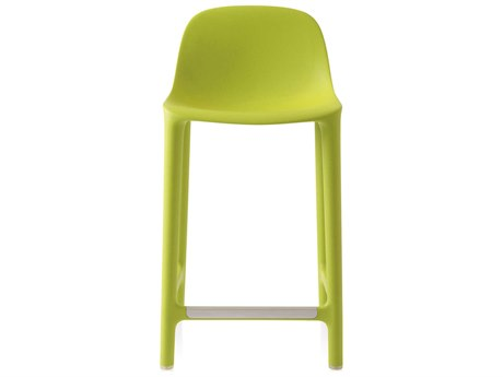 Emeco Outdoor Broom Reclaimed Green 24'' High Counter Stool PatioLiving