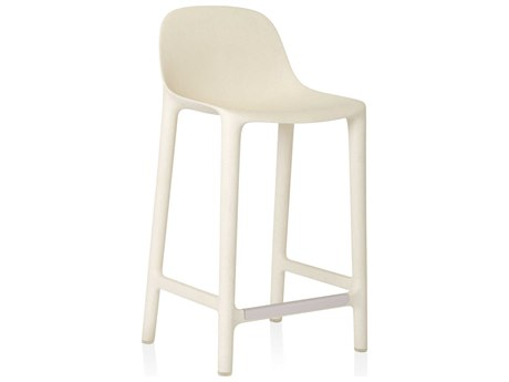 Emeco Outdoor Broom Reclaimed White 24'' High Counter Stool PatioLiving