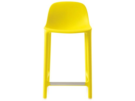 Emeco Outdoor Broom Reclaimed Yellow 24'' High Counter Stool PatioLiving