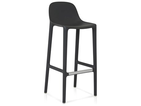 Emeco Outdoor Broom Reclaimed Dark Grey 30'' High Bar Stool