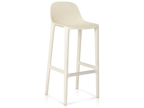 Emeco Outdoor Broom Reclaimed White  30'' High Bar Stool