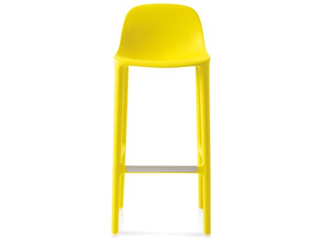 Emeco Outdoor Broom Reclaimed Yellow 30'' High Bar Stool