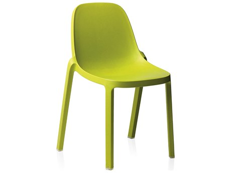 Emeco Outdoor Broom Reclaimed Green Stackable Dining Side Chair
