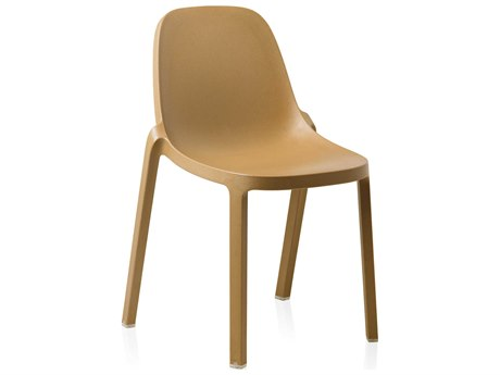 Emeco Outdoor Broom Reclaimed Natural Stackable Dining Side Chair