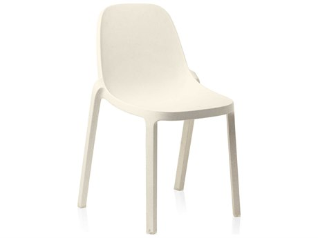 Emeco Outdoor Broom Reclaimed White Stackable Dining Side Chair