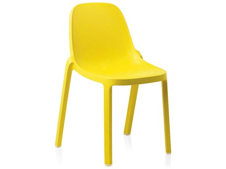 Emeco Outdoor Broom Reclaimed Yellow Stackable Dining Side Chair