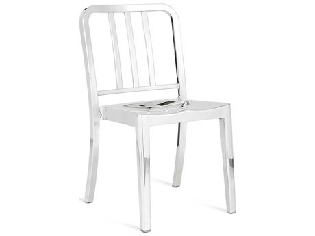 Emeco Outdoor Heritage Polished Aluminum Dining Side Chair