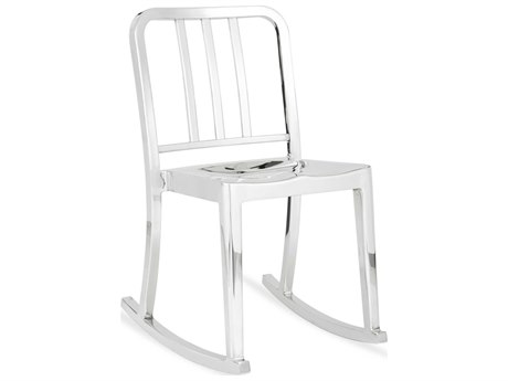 Emeco Outdoor Heritage Polished Aluminum Rocker Dining Side Chair