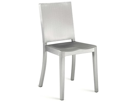 Emeco Outdoor Hudson Brushed Aluminum Dining Side Chair