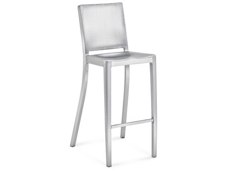 Emeco Outdoor Hudson Brushed Aluminum Bar Stool PatioLiving