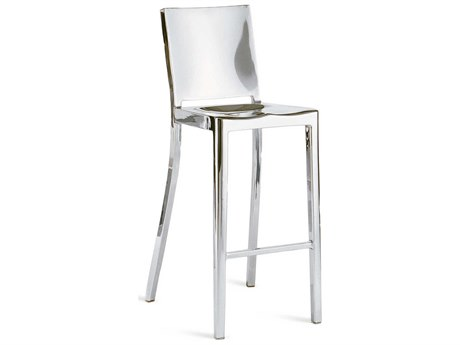 Emeco Outdoor Hudson Polished Aluminum Bar Stool PatioLiving