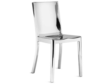 Emeco Outdoor Hudson Polished Aluminum Dining Side Chair