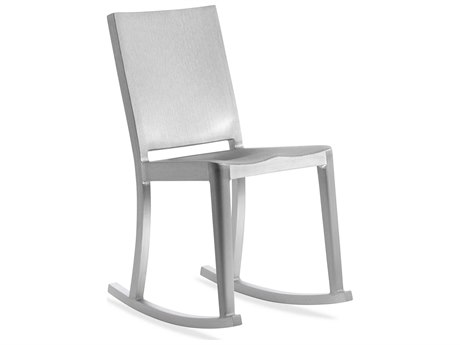 Emeco Outdoor Hudson Brushed Aluminum Rocker Dining Side Chair