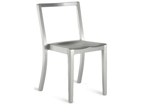 Emeco Outdoor Icon Brushed Aluminum Dining Side Chair
