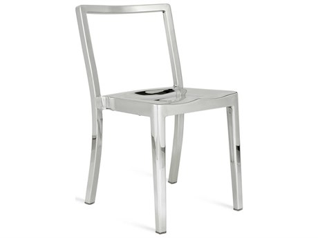 Emeco Outdoor Icon Polished Aluminum Dining Side Chair