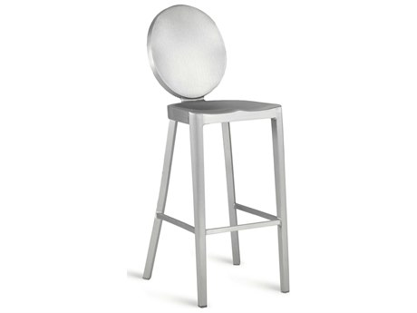 Emeco Outdoor Kong Brushed Aluminum Bar Stool PatioLiving