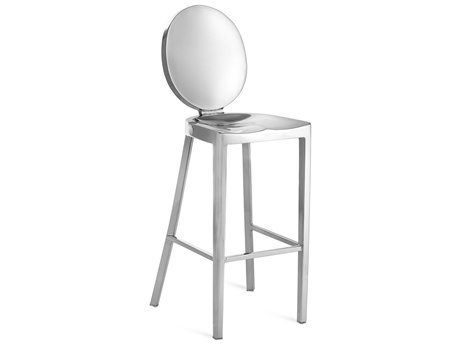Emeco Outdoor Kong Polished Aluminum Bar Stool PatioLiving