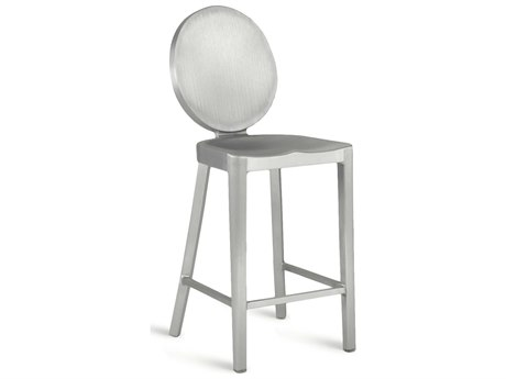 Emeco Outdoor Kong Brushed Aluminum Counter Stool PatioLiving