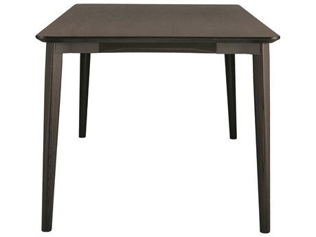 Emeco Outdoor Lancaster Ash Wood Dark 48'' Wide Square Dining Table with Dark Grey Top PatioLiving