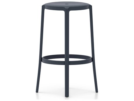 Emeco Outdoor On & On Recycled Plastic Dark BlueBar Stool