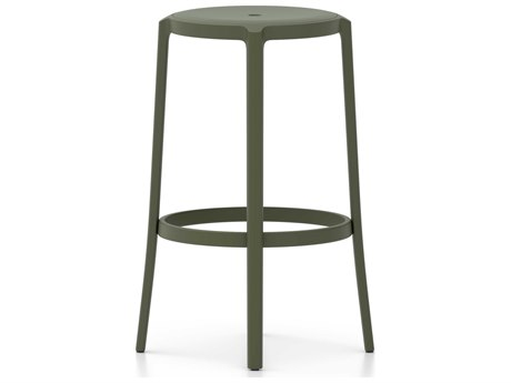 Emeco Outdoor On & On Recycled Plastic Cypress Green Bar Stool