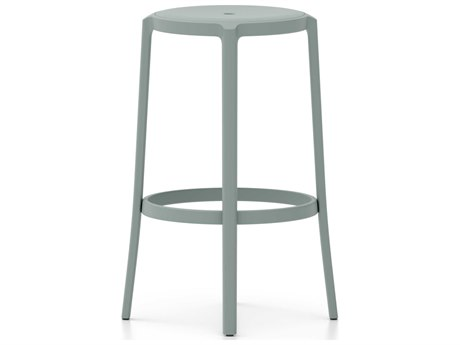 Emeco Outdoor On & On Recycled Plastic Light Blue Bar Stool