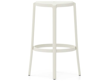 Emeco Outdoor On & On Recycled Plastic Stockholm White Bar Stool