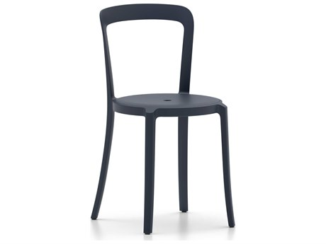 Emeco Outdoor On & On Recycled Plasti Dark Blue Stackable Dining Side Chair