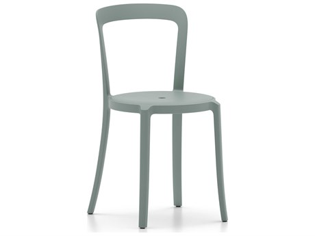 Emeco Outdoor On & On Recycled Plastic Light Blue Stackable Dining Side Chair
