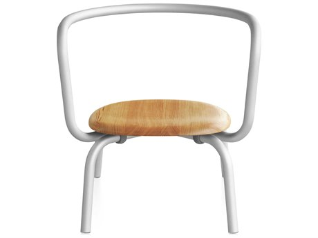 Emeco Outdoor Parrish By Konstantin Grcic Aluminum Lounge Chair with Maple Seat PatioLiving