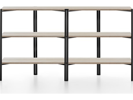 Emeco Outdoor Run By Sam Hecht And Kim Colin Aluminum Black Shelf in Ash PatioLiving