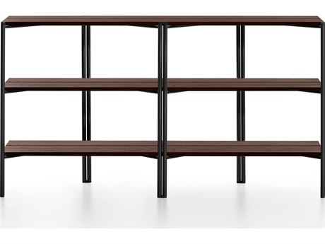 Emeco Outdoor Run By Sam Hecht And Kim Colin Aluminum Black Shelf in Walnut PatioLiving