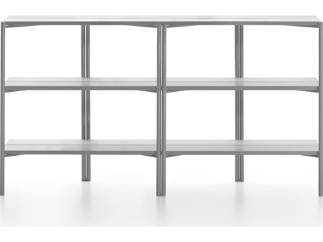 Emeco Outdoor Run By Sam Hecht And Kim Colin Aluminum Clear Anodized Shelf  PatioLiving